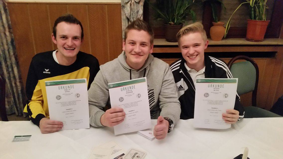 Wacker Gladbeck - Jugendtrainer haben C-Lizenz bestanden