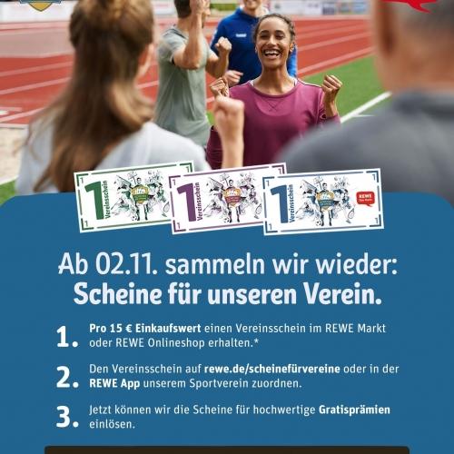 """Es geht wieder los mit """"Scheine für Vereine"""" von Rewe - Wacker Gladbeck"""