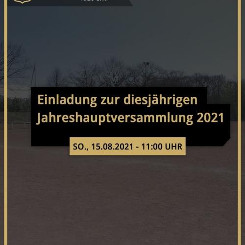 Einladung zur diesjährigen Jahreshauptversammlung 2021 - Wacker Gladbeck