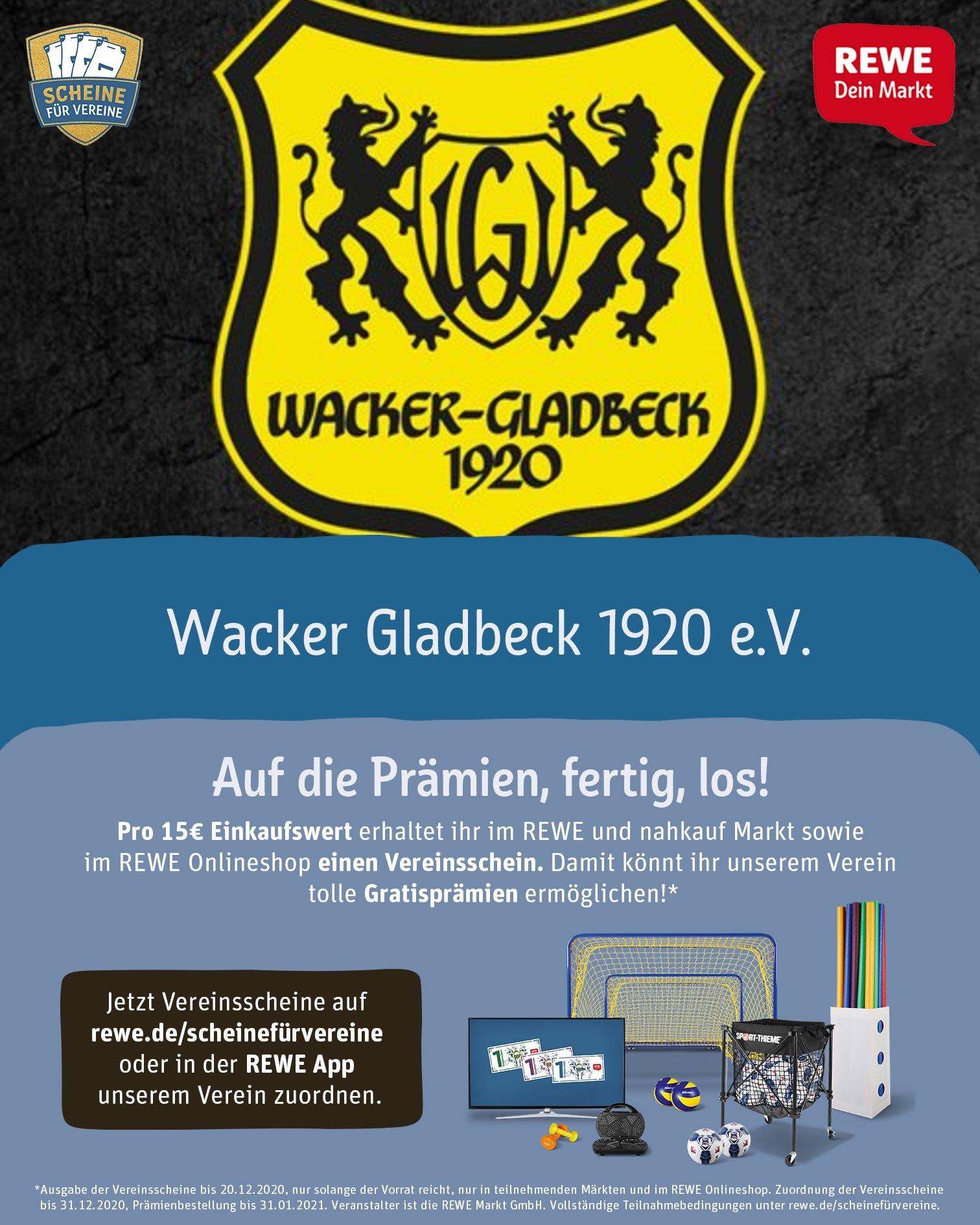 Scheine für Vereine - Wacker Gladbeck