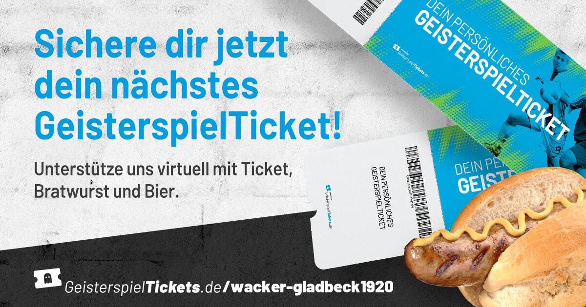 Unterstütze Wacker mit Geisterspieltickets - Wacker Gladbeck