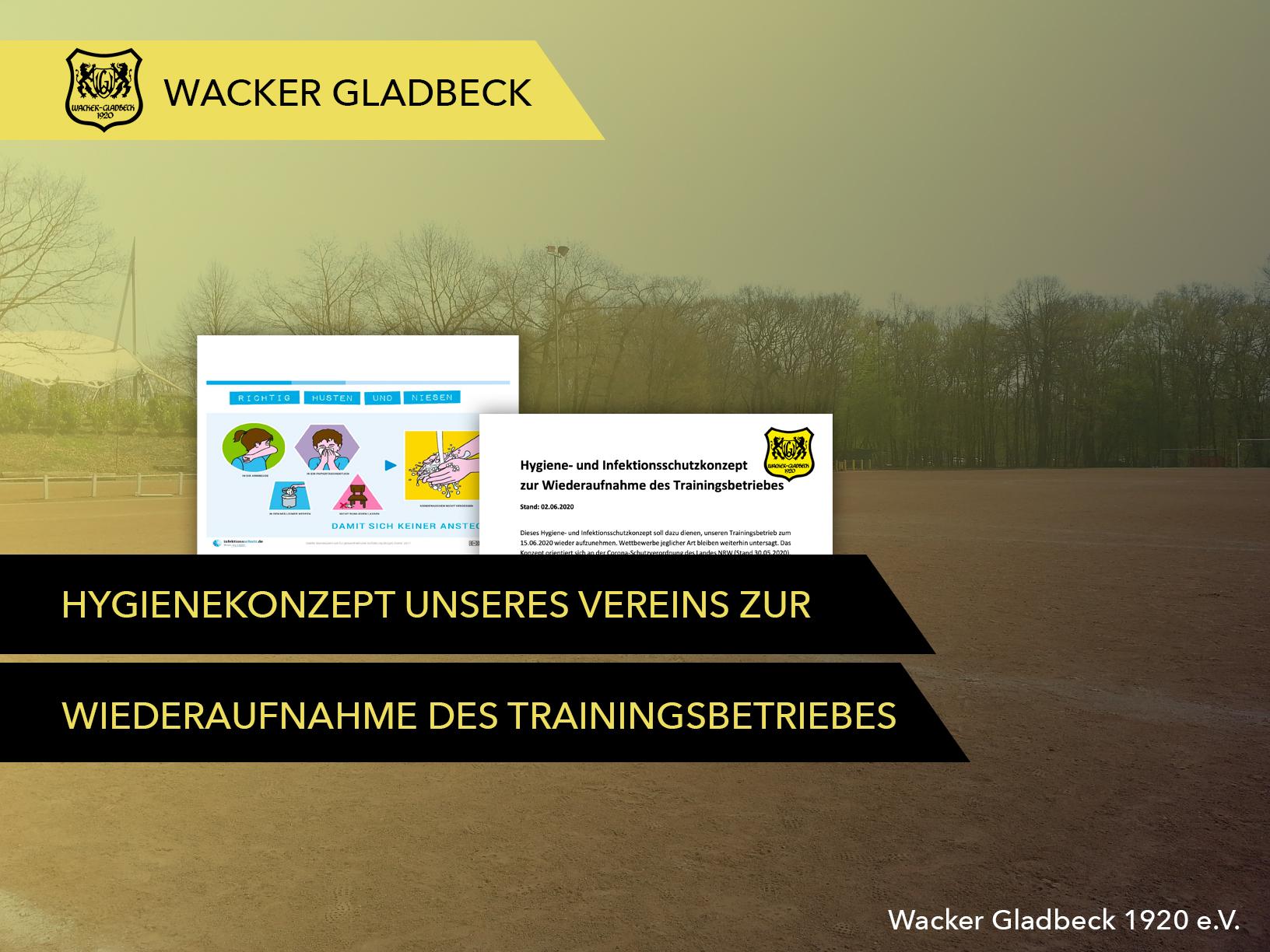 Wacker Gladbeck - Wiederaufnahme des Trainingsbetriebes