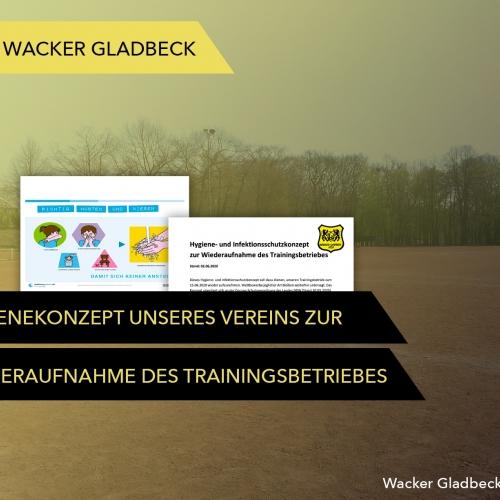 Wiederaufnahme des Trainingsbetriebes - Wacker Gladbeck