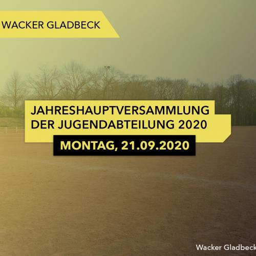 Einladung zur Jugend-Jahreshauptversammlung 2020 - Wacker Gladbeck
